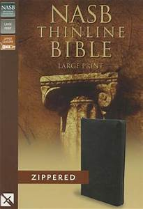 nasb thinline zippered collection bible large print With nasb red letter