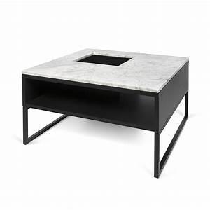 Table Basse En Metal : temahome table basse sigma marbre blanc pieds en m tal ~ Teatrodelosmanantiales.com Idées de Décoration