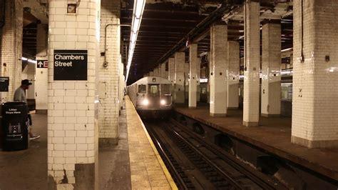 nyc subway chambers street   rundown station