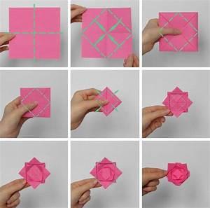 Servietten Blumen Falten : origami blume falten 7 ideen mit faltanleitung f r beliebte blumen basteln origami blume ~ Watch28wear.com Haus und Dekorationen