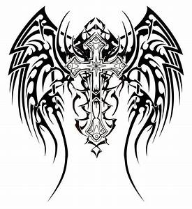 unique tribal wings cross Tattoo design | Tattoo Expo