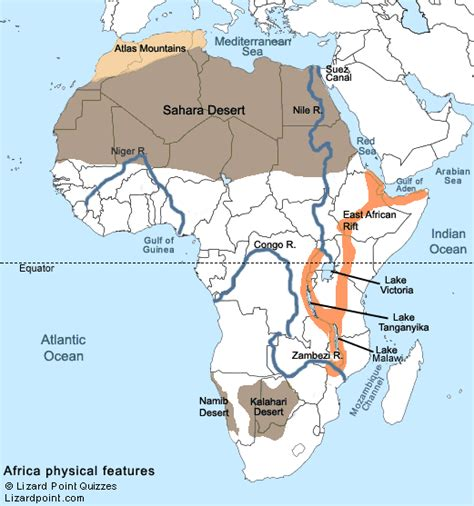 test  geography knowledge africa physical features