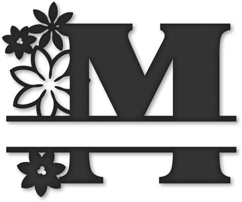 transparent monogram clipart monogram split letter  clipartkey