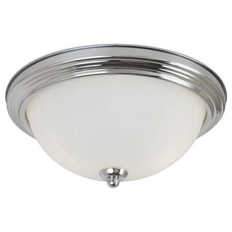 chrome flush mount ceiling light sea gull lighting ceiling flush mount chrome led