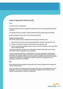 Template For Business Letter Format Non Profit Agreement Letter Template Example
