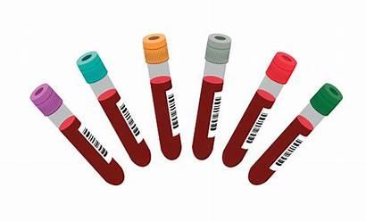 Blood Tests Vector Test Tubes Clip Illustrations