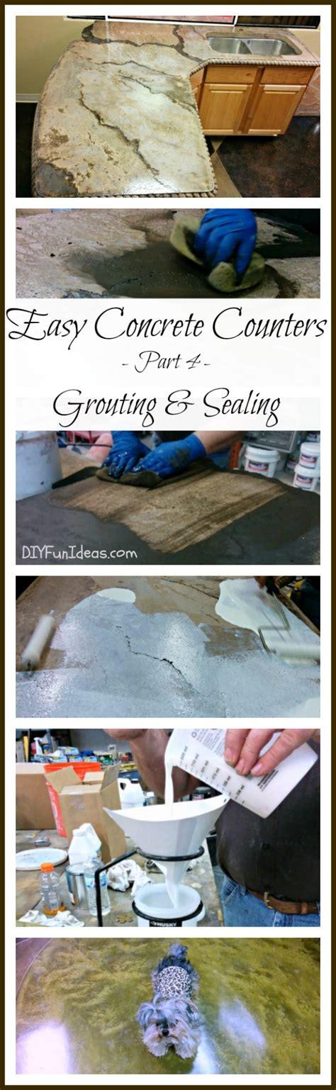 Easy Diy Countertops - grouting and sealing diy concrete countertops