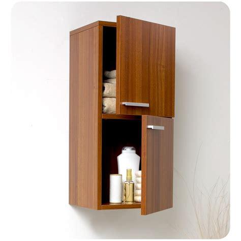bathroom linen side cabinet fresca teak bathroom linen side cabinet w 2 storage areas