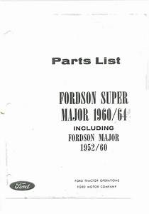 Fordson Super Major Tractor Parts Manual