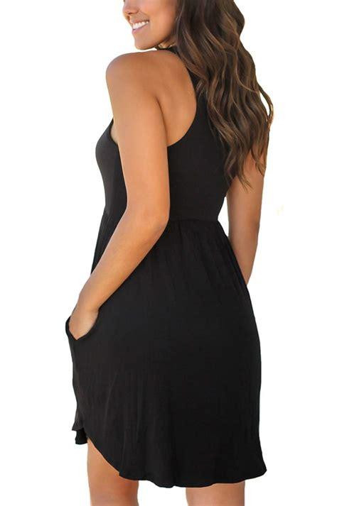 APC Unbranded Women's Sleeveless Loose Plain Dresses ...