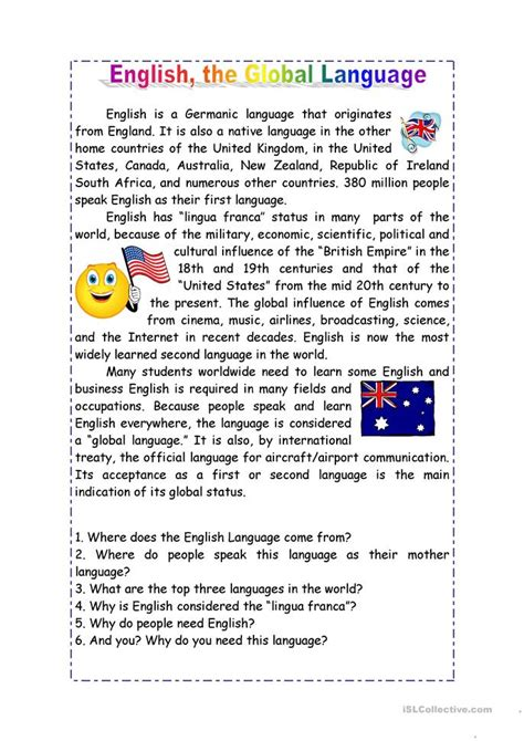 Essay On Importance Of English In World  Mistyhamel Importance English International Language Essay