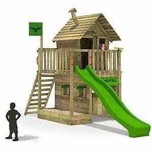 Kinder Spielturm Garten : fatmoose kletterturm rebelracer spielturm baumhaus spielger t garten mit apfelgr ner rutsche ~ Whattoseeinmadrid.com Haus und Dekorationen