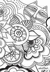 Laurel Burch Coloring Cat Embroidery Postcard Ctpub Project Designs Template sketch template