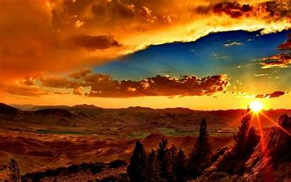 Amazing Sunset Desktop Background Sky Landscape Clouds