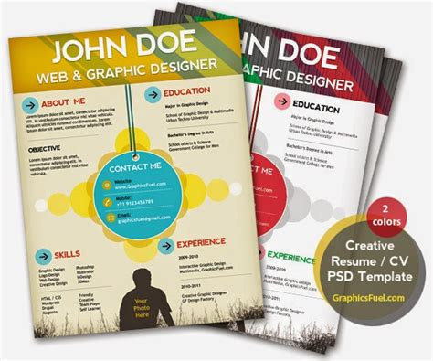 Creative Resume Template Psd by 49 Free Professional Cv Resume Templates Psd Mockup Tinydesignr
