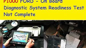 P1000 Ford On Board Diagnostic System Readiness Test Not
