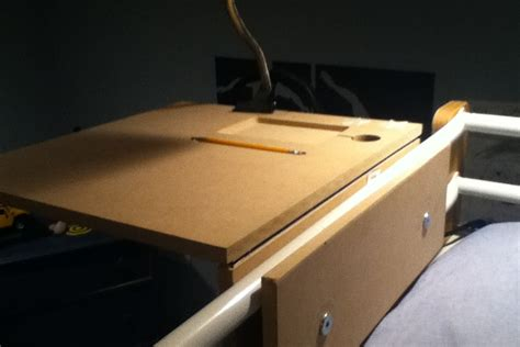 bunk bed bedside table diy