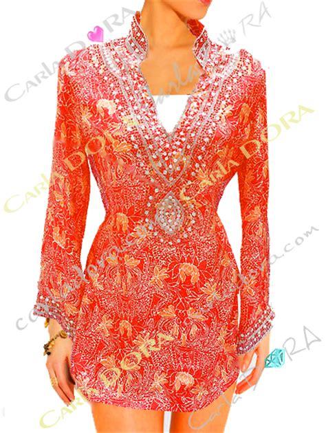 tunique mariage tunique indienne corail en soie col v broderie perles tunique fashion top femme fashion a la mode