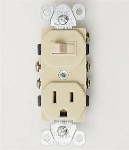 Single Pole 15 Amp Outlet  U0026 Toggle Ivory Light Switch