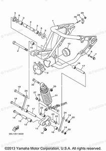 Yamaha Motorcycle 2004 Oem Parts Diagram For Rear Arm Suspension