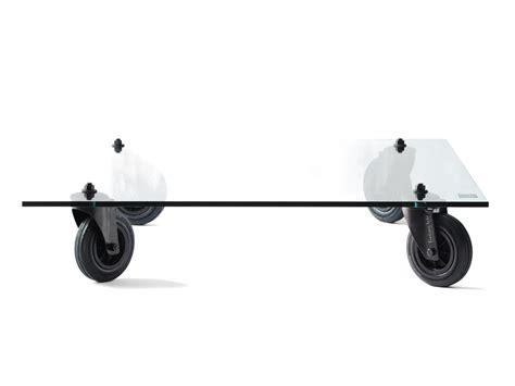 table basse en verre roulettes le bois chez vous