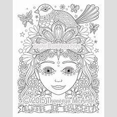 Free Spirit Coloring Book By Thaneeya Mcardle — Thaneeyacom