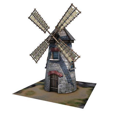 model medieval building  windmill vr ar  poly