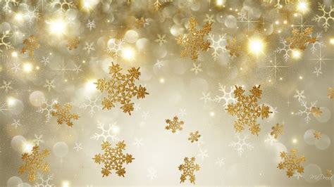 Gold Winter Wallpaper Iphone by Golden Snowflakes Hd Wallpaper Background Image