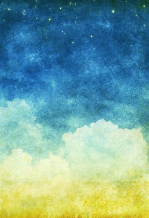 Backgrounds Portrait by Huayi Beautiful Sky Fabric Photography Backdrop