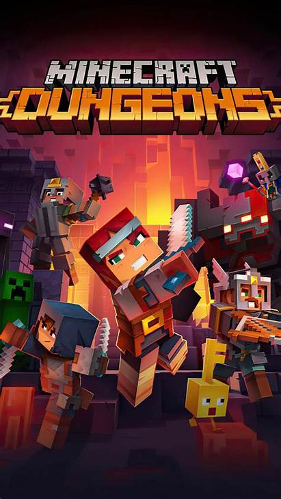 Minecraft Poster Dungeons 4k Ultra Mobile Wallpapers