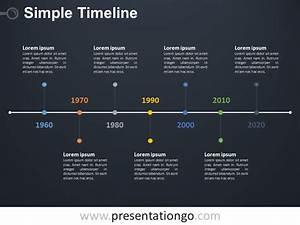 Simple Timeline Powerpoint Diagram