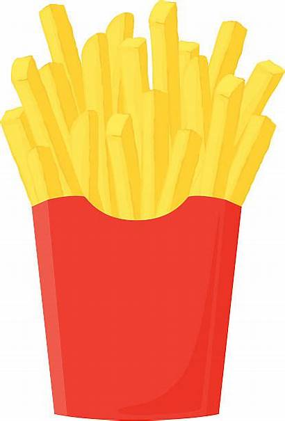 Fries French Clipart Pommes Vector Clip Illustrations