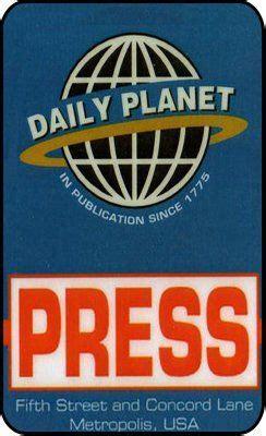 daily planet printable press pass google suche