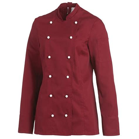 veste cuisine veste de cuisine femme manches longues cintrée poche sur