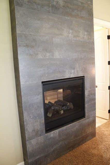 tile fireplace modern indoor fireplaces kansas city