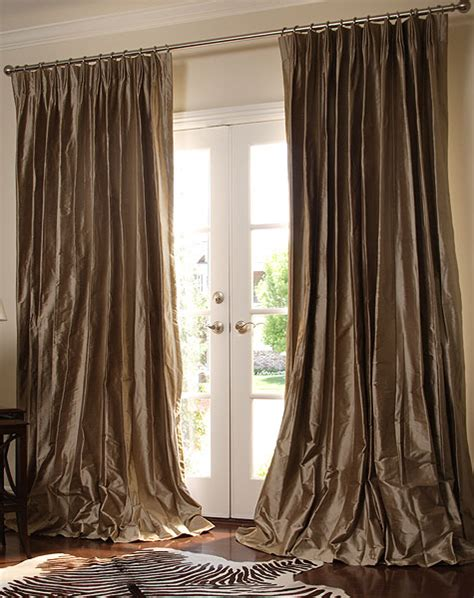 rubab curtain corner silk pinch pleated drapery