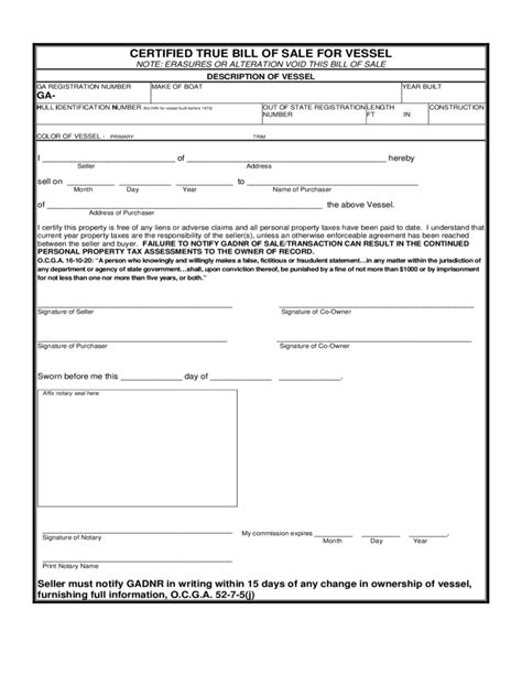 Used Boat Bill Of Sale Form by Boat Trailer Bill Of Sale Template