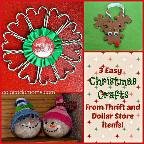 3 easy christmas crafts from thrift and dollar store items