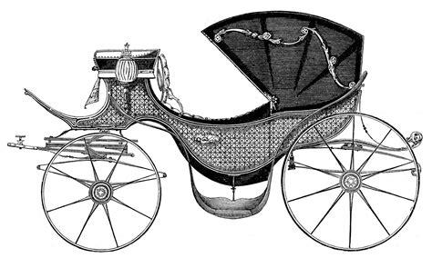 antique clip art carriage fit   princess