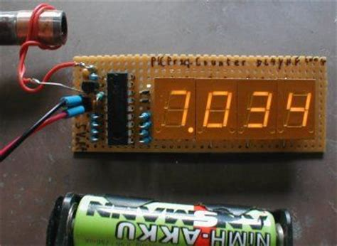 frequency counter  pic     digit led display