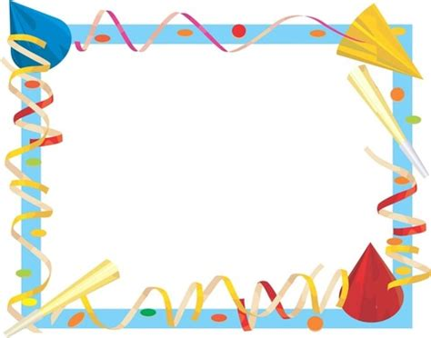 Happy Birthday Card Border