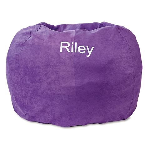 purple personalized bean bag chair lillian vernon