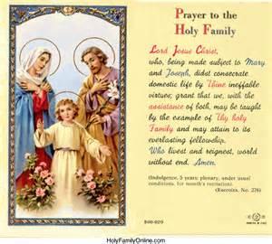 Holy Family Prayer Cards