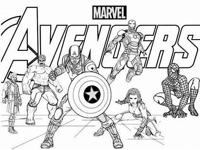 Coloring Avengers Pages Marvels Marvel Sheets Printable