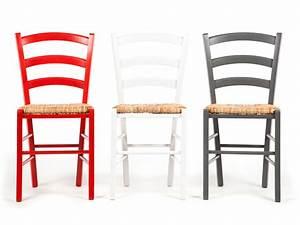 Chaise En Bois : chaise en bois avec assise en paille lot de 2 palma ~ Melissatoandfro.com Idées de Décoration