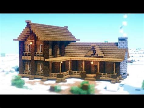 minecraft   build  wooden cabin easy wood house tutorial youtube minecraft house