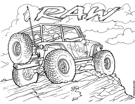 monster truck show for kids gallery 39 teraflex jeep coloring pages 39 teraflex