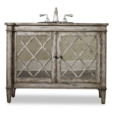 bisque kitchen faucets 44 inch single sink bathroom vanity in antiqued parchment