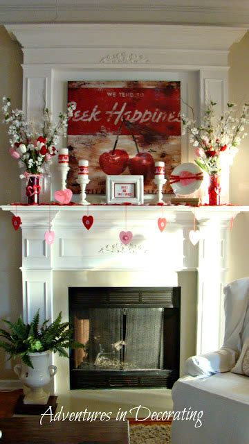 adventures in decorating an unexpected valentine mantel