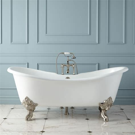 bath tubs 71 quot aubretia cast iron slipper tub new bathtubs